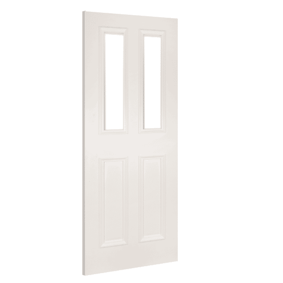 deanta rochester clear glazed white primed interior door