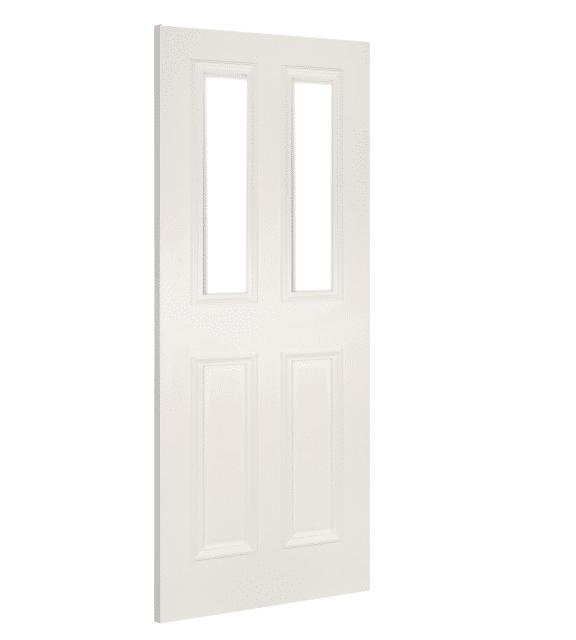 deanta rochester clear glazed white primed interior door