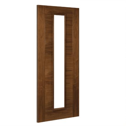 Deanta Seville Glazed Interior Walnut Door - 1981mm-x-610mm-x-35mm