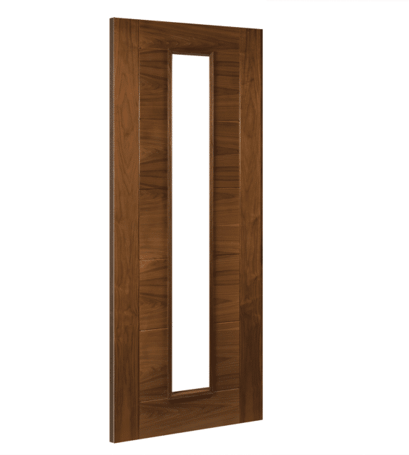 deanta seville glazed interior walnut door