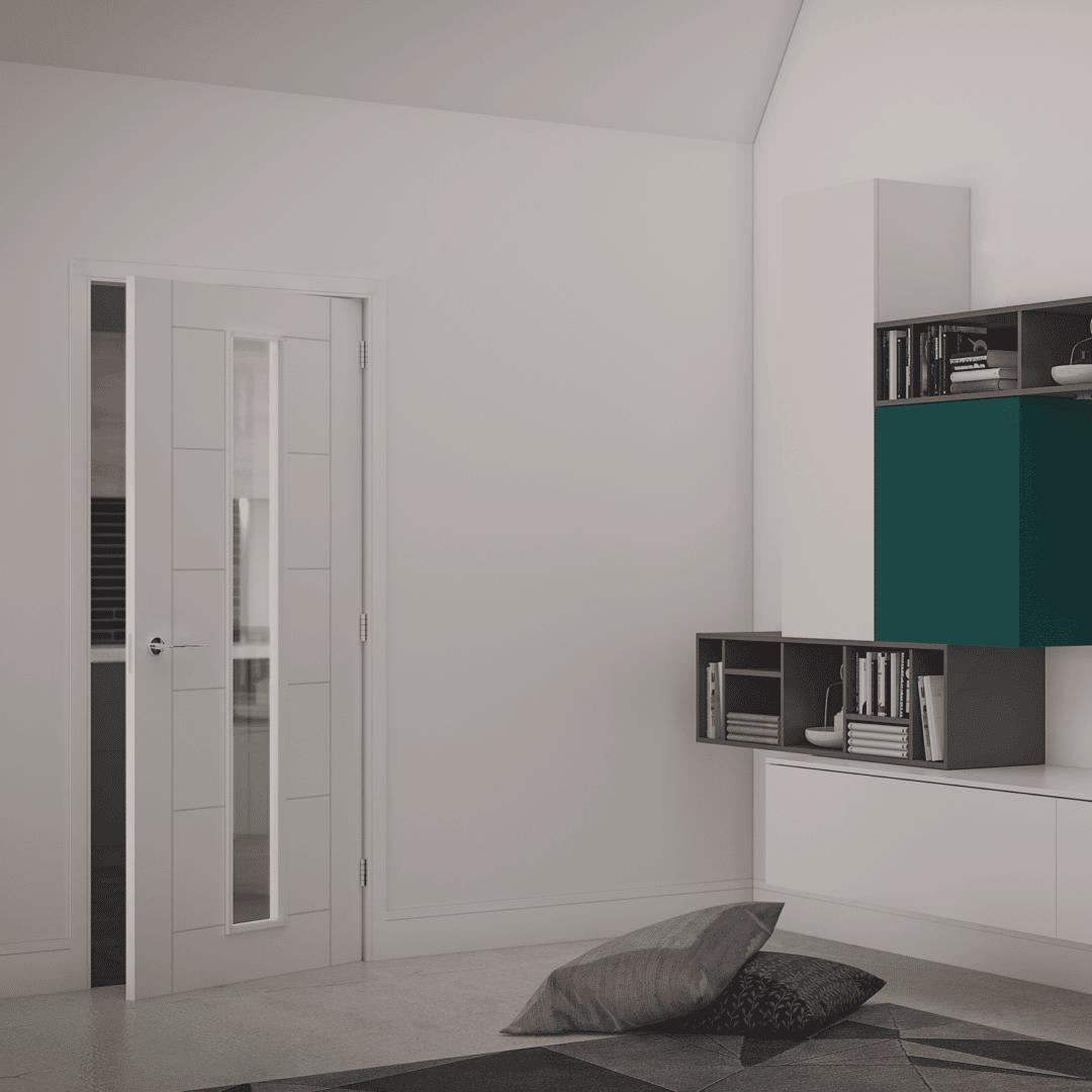 deanta seville glazed primed white door