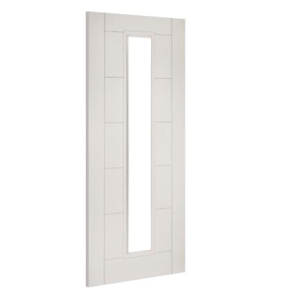 Deanta Seville White Glazed Primed Door - 1981mm-x-610mm-x-35mm