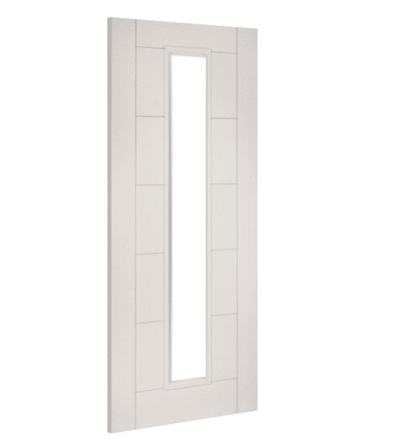 deanta seville glazed white primed door