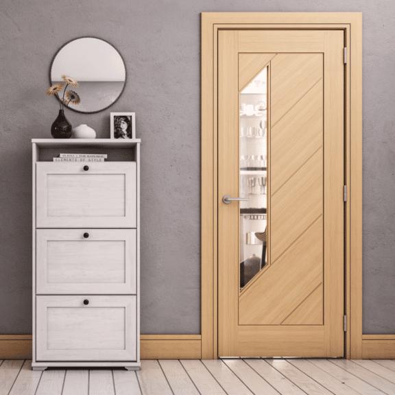 deanta torino glazed interior oak door