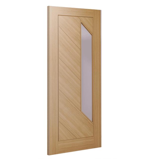 deanta torino glazed unfinished oak door