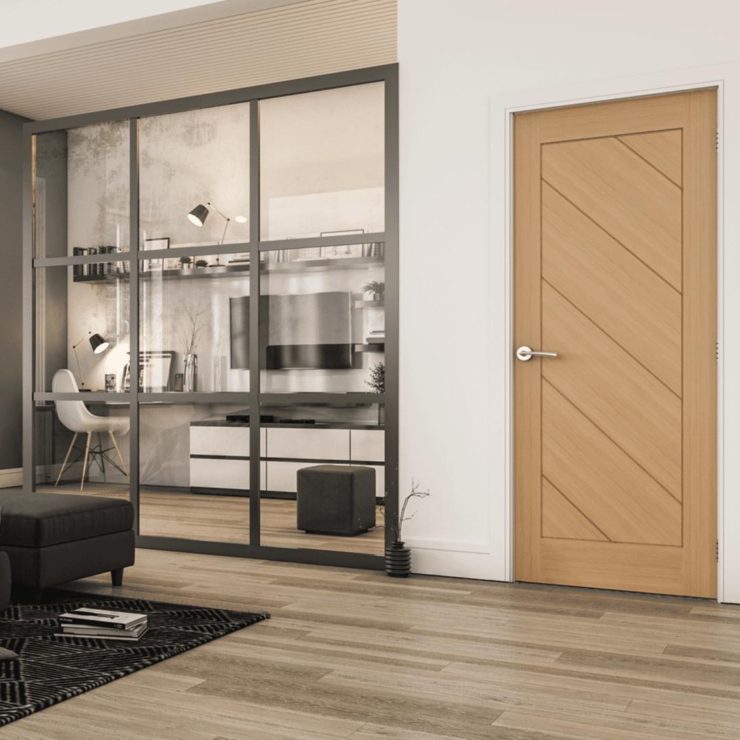 deanta torino prefinished oak door