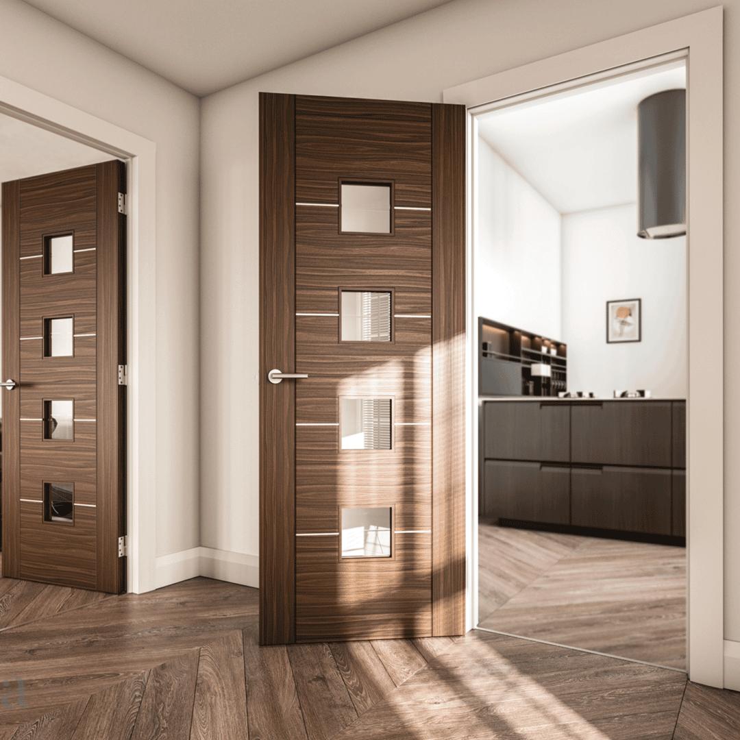 deanta valencia glazed internal walnut door