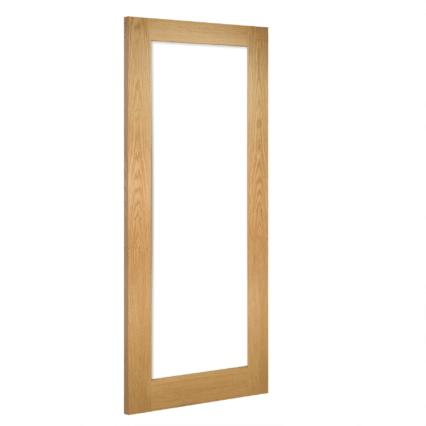 Deanta Walden Clear Glazed Interior Oak Door - 1981mm-x-610mm-x-35mm