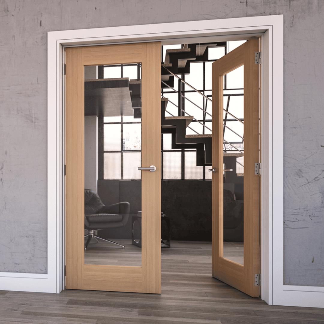 deanta walden clear glazed internal oak door