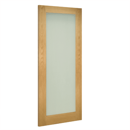 Deanta Walden Obscure Glazed Interior Oak Door - 1981mm-x-610mm-x-35mm