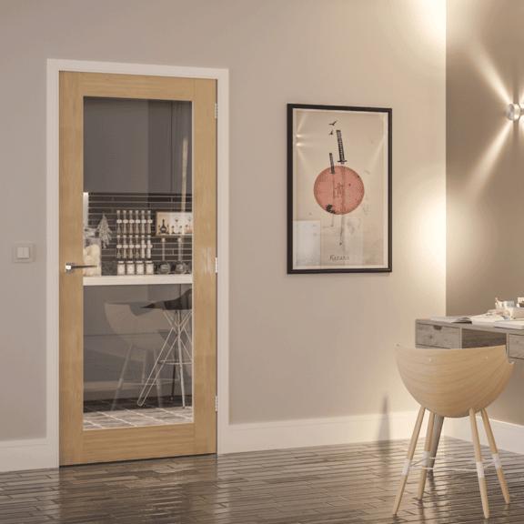 deanta walden obscure glazed internal oak door