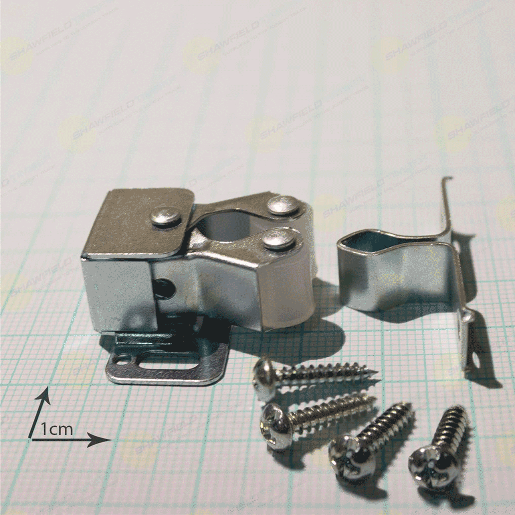 double roller catch and screws