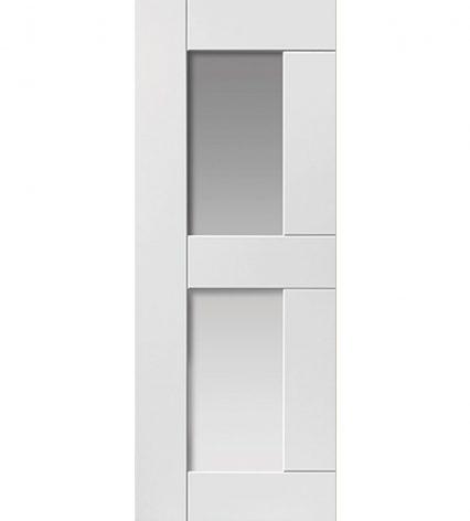 Eccentro White Internal Glazed Door - 1981mm-x-686mm-x-35mm