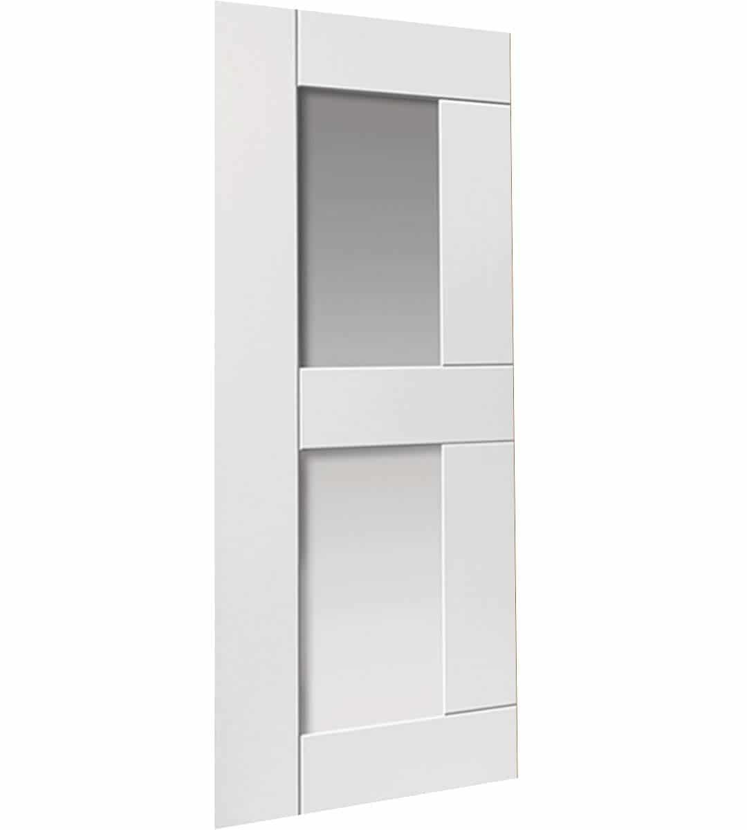 eccentro glazed white internal door