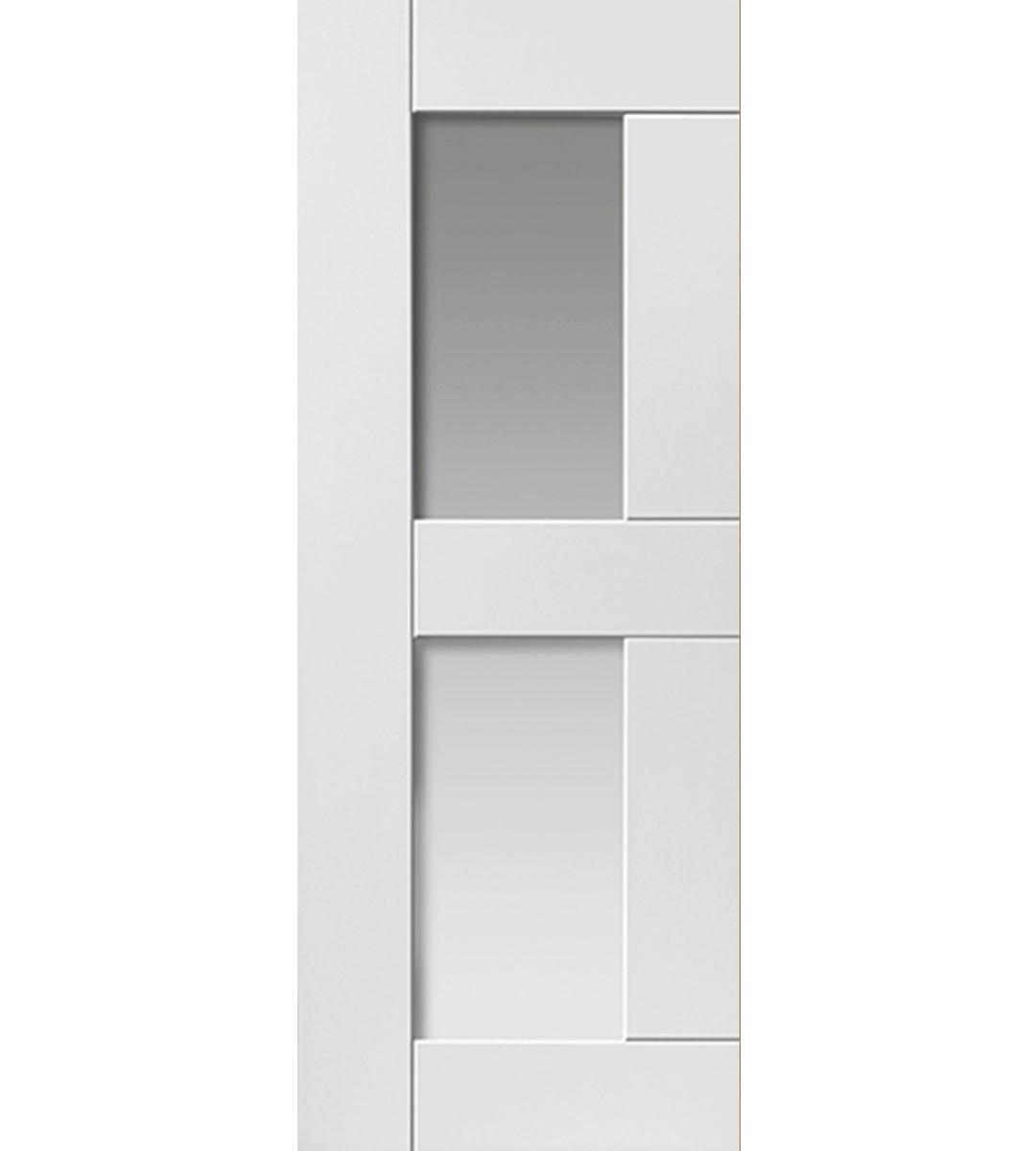 eccentro white glazed interior door