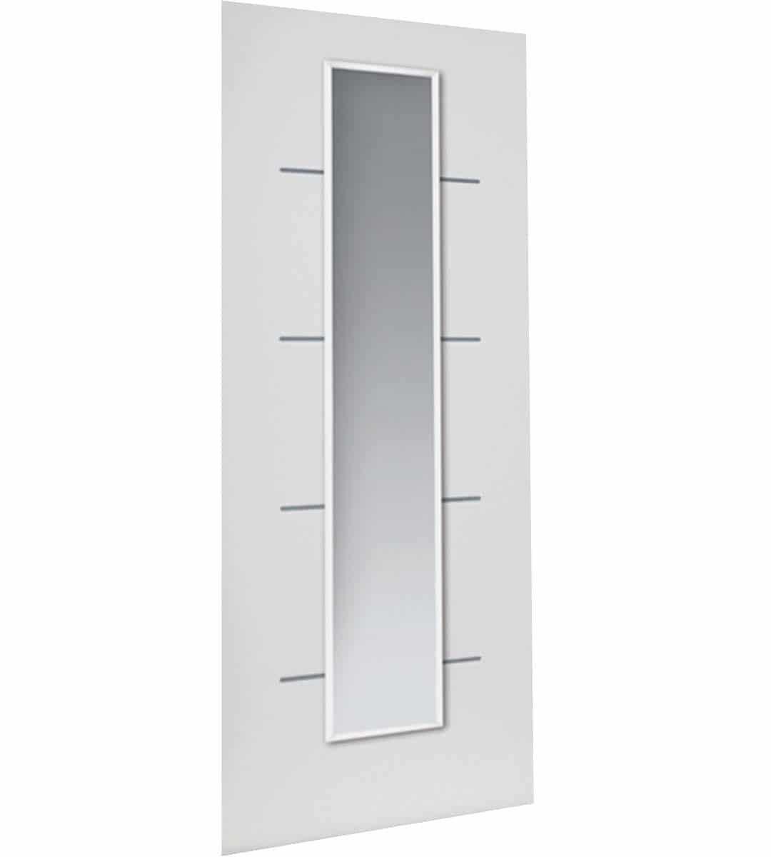 eco blanco white glass door