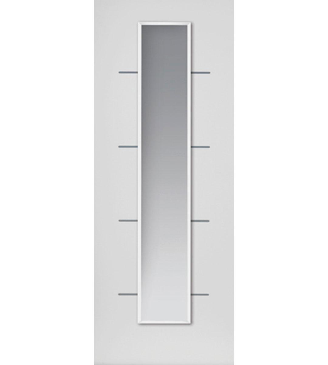 eco blanco white glazed door