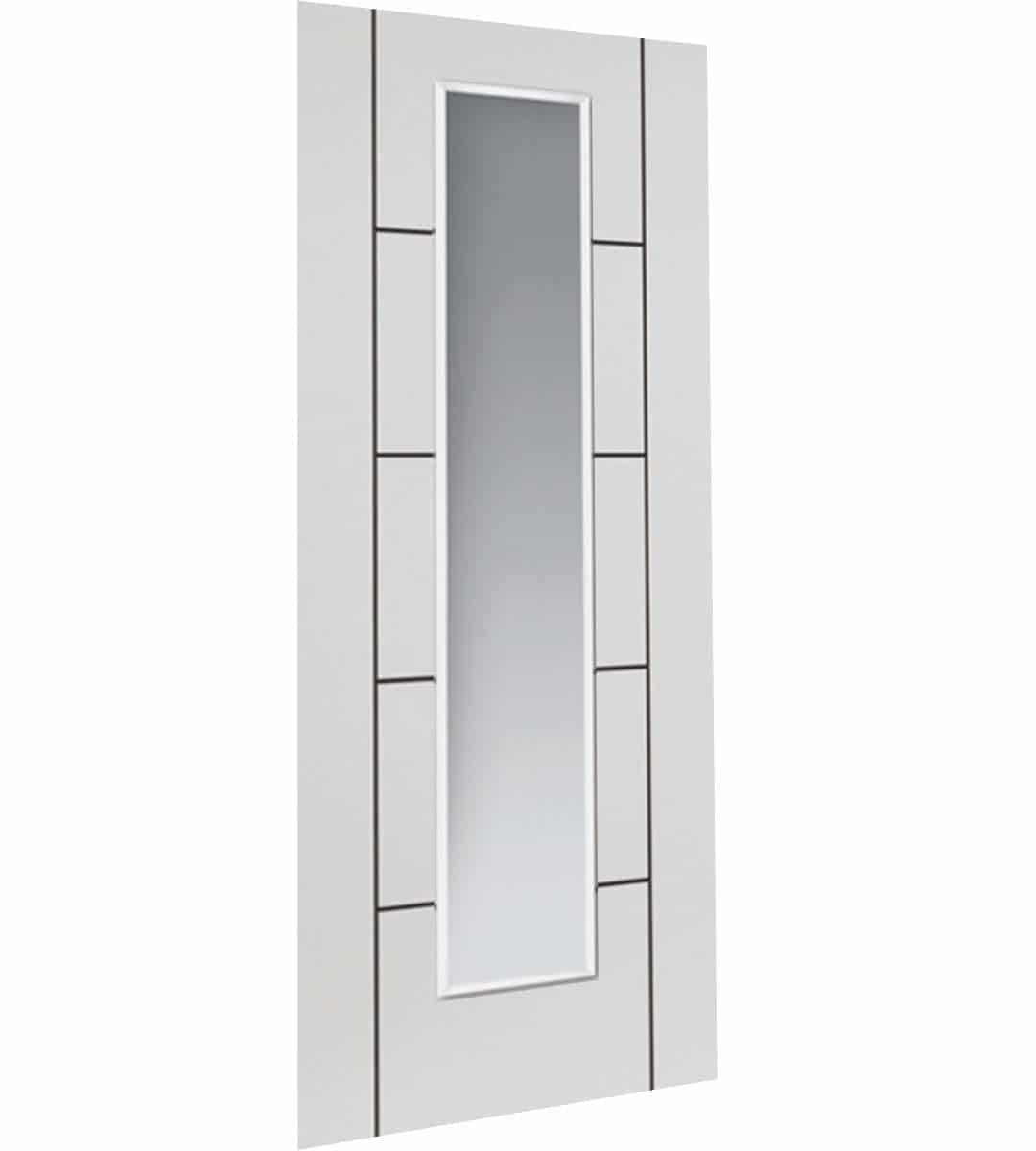 eco linea white glazed interior door