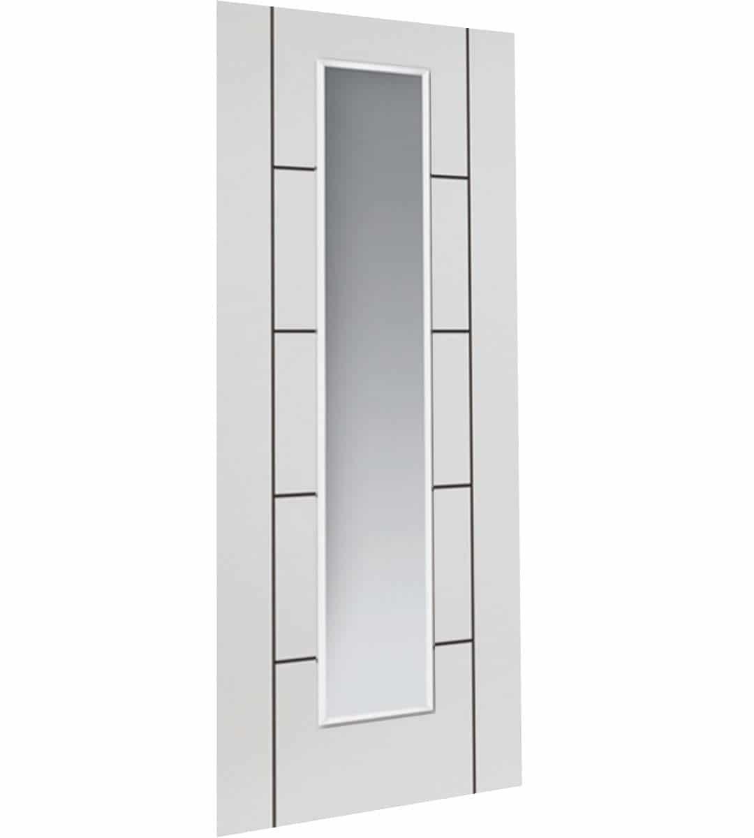 eco linea white glazed interior door