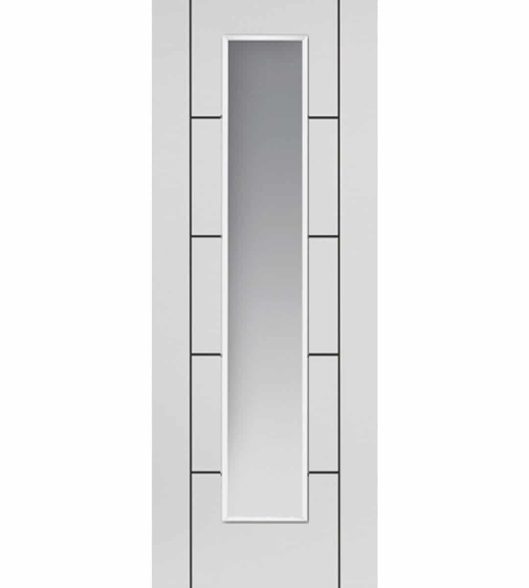 Eco Linea White Internal Glazed Door Shawfield Doors