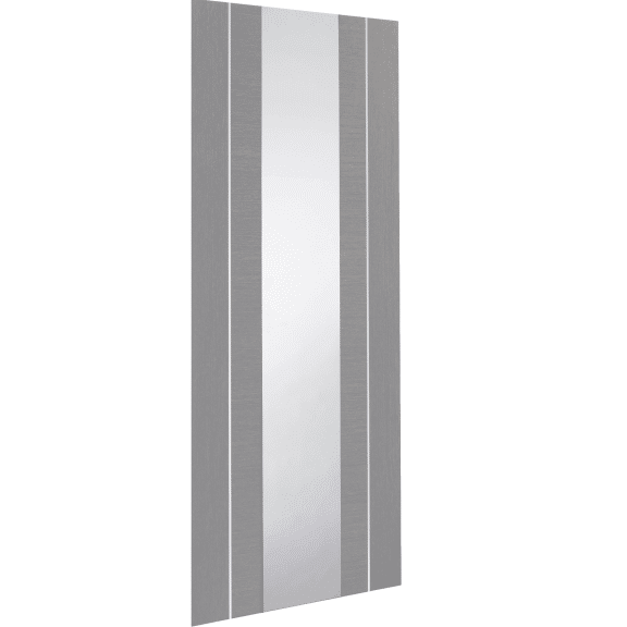 forli light grey with clear glass internal door