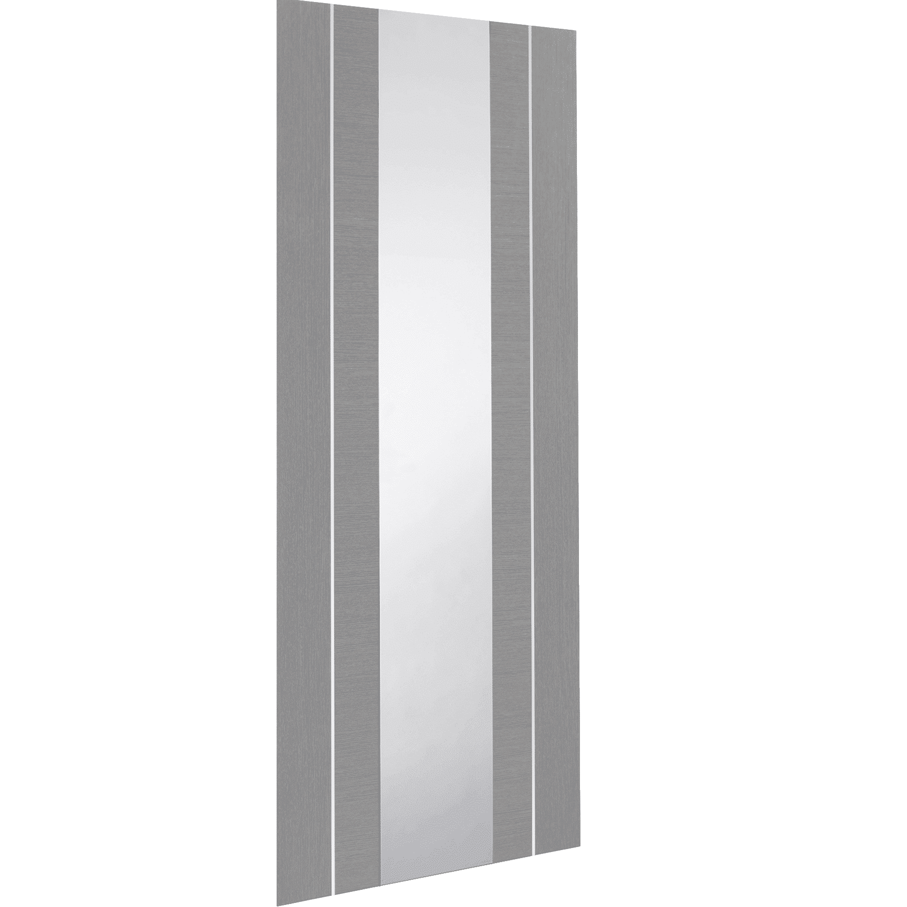 Forli pre finished light grey door with clear glass for Door with light