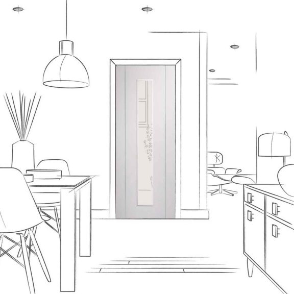 forli white clear glazed door