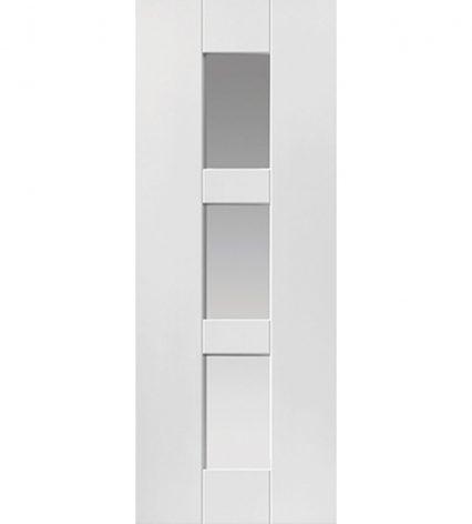 Geo White Internal Glazed Door - 1981mm-x-686mm-x-35mm