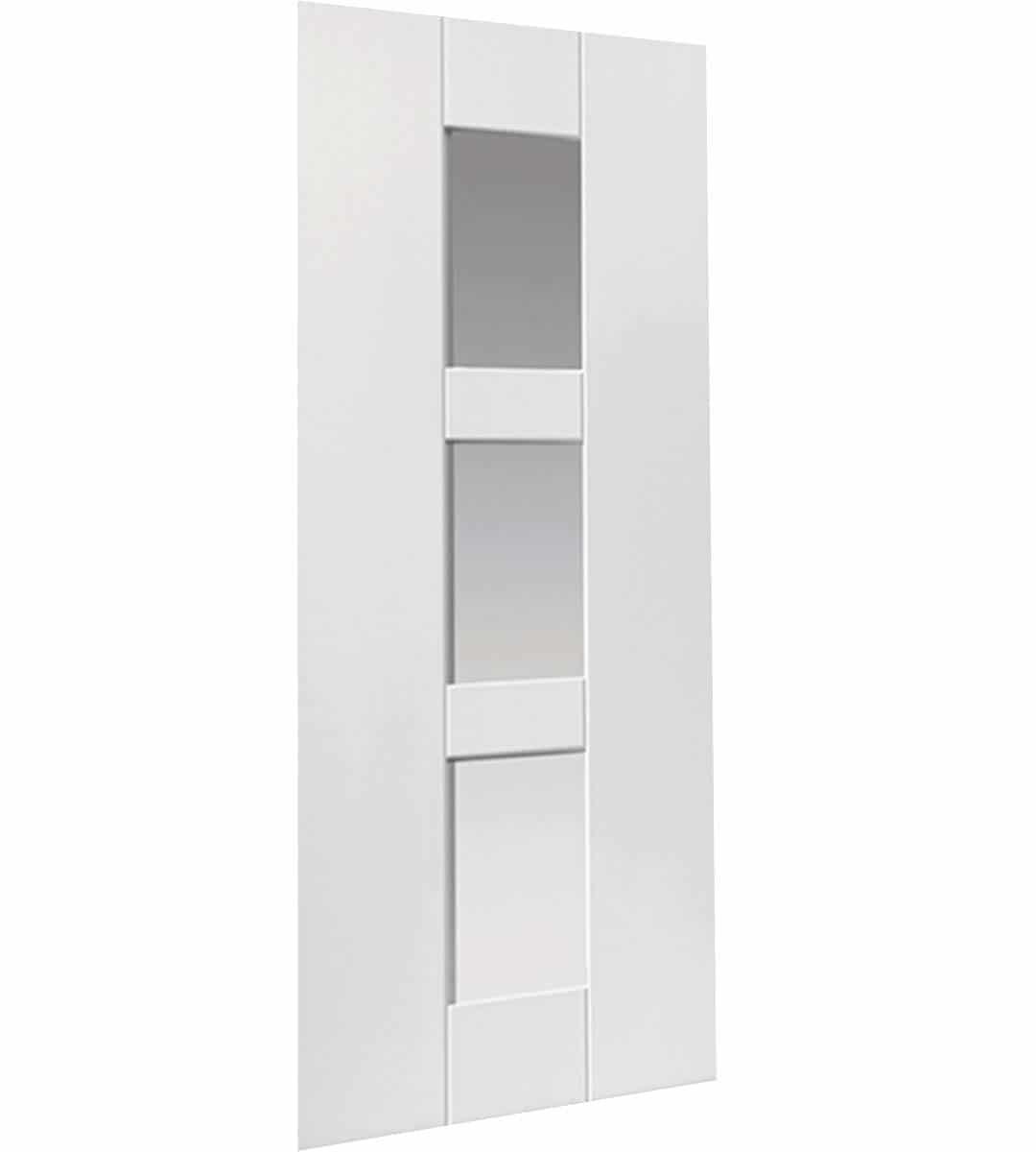 geo white glazed internal door