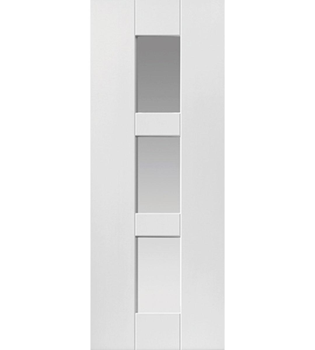 geo internal white glazed door