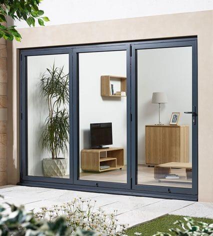 Aluvu Sliding Door Set - grey-%e2%80%a2-right-hand-fold
