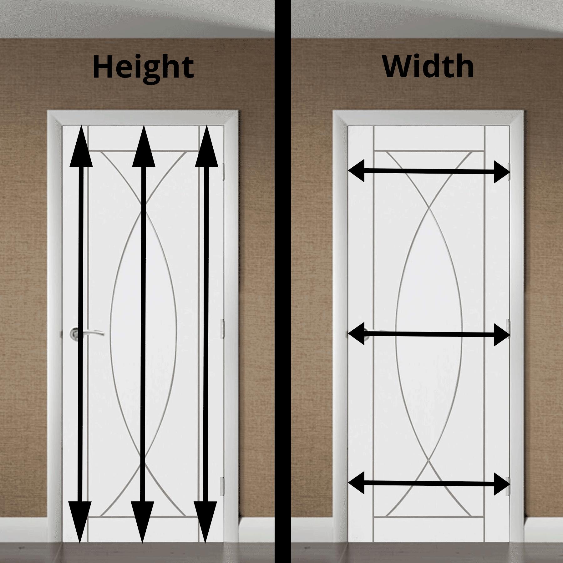 Door Pictured XL Joinery Pesaro White Internal Door & How to Measure Interior Door Opening | Shawfield Doors