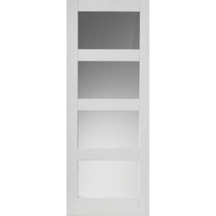 JB Kind Cayman White Glazed Internal Door - 1981mm-x-686mm-x-35mm