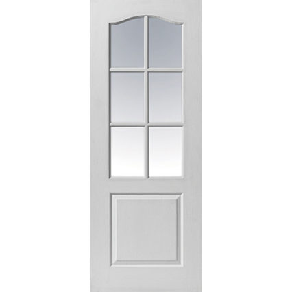 JB Kind Classique 6 Light Glazed Internal Door - 1981mm-x-686mm-x-35mm