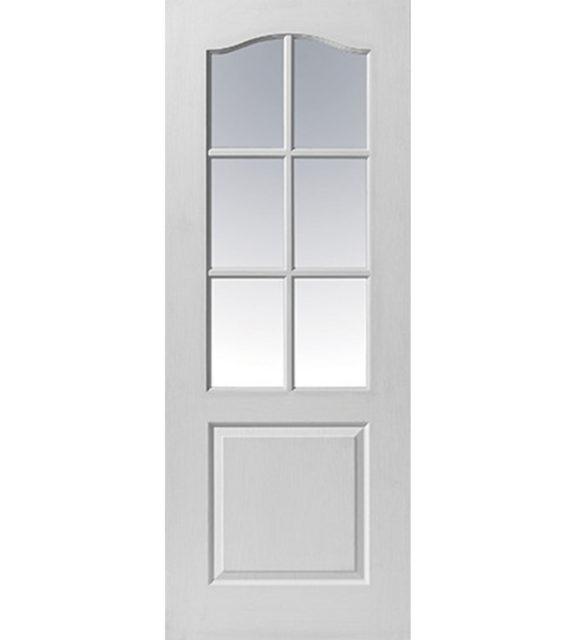 jb kind classique 6 light glazed internal door
