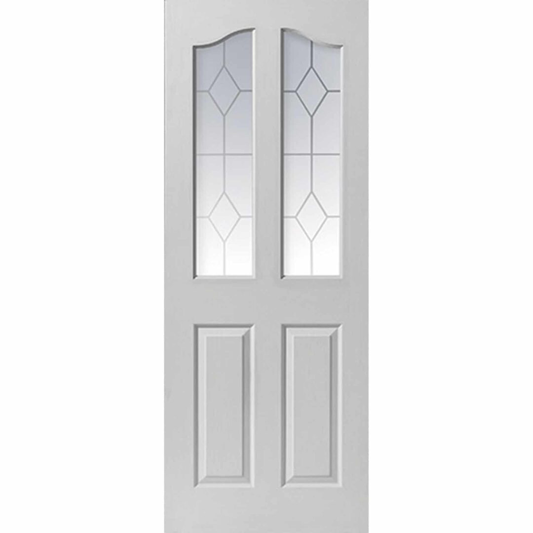 jb kind edwardian 2 light white internal door