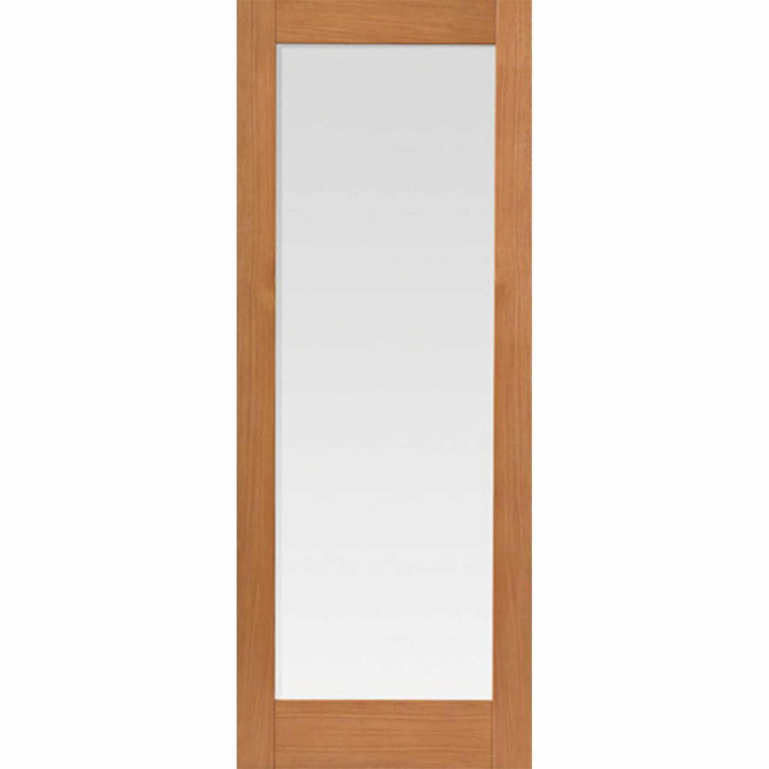 jb kind fuji oak glazed interior door