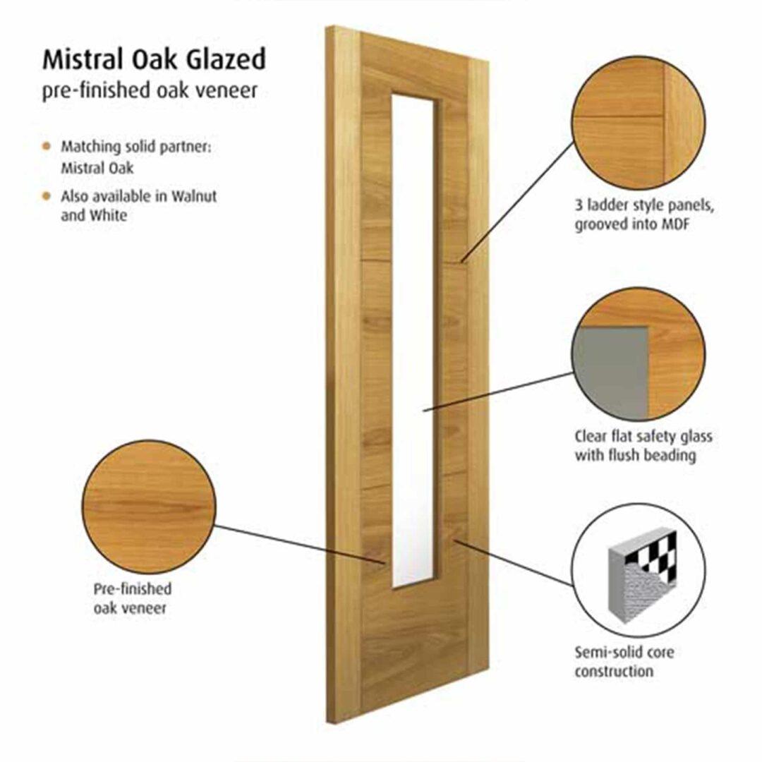 jb kind mistral oak glazed interior door