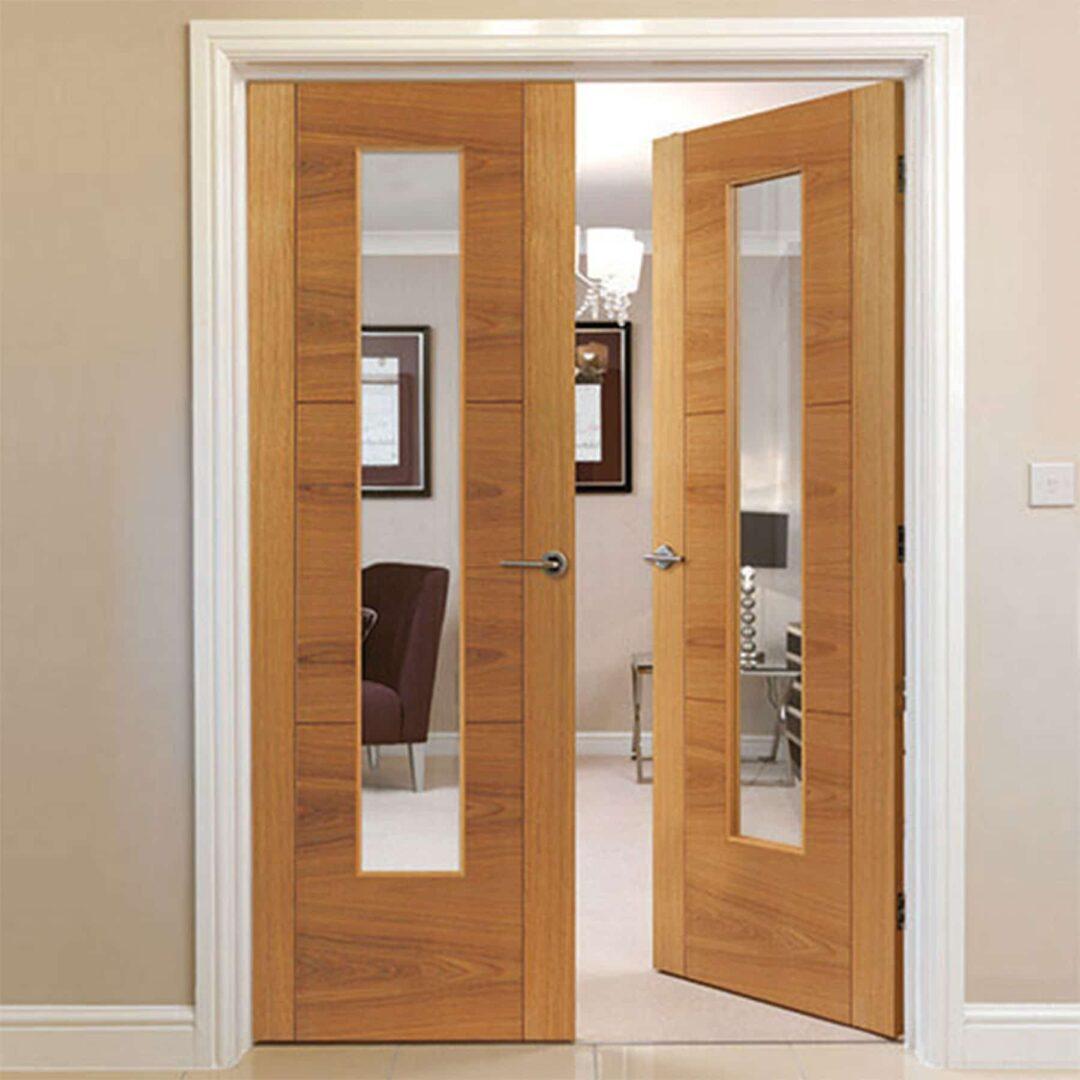 jb kind mistral oak glazed internal door