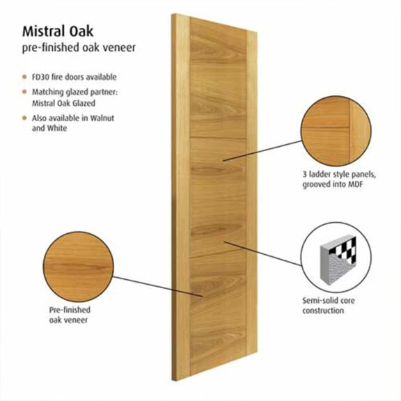 jb kind mistral oak interior door