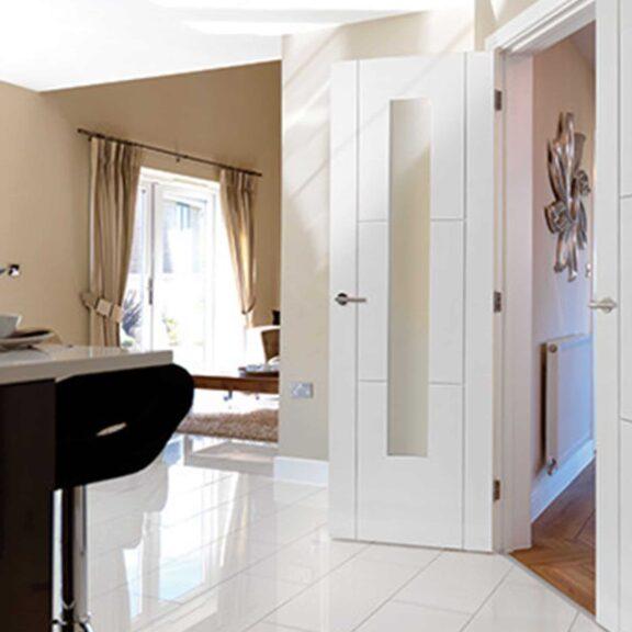 jb kind mistral white glazed interior door