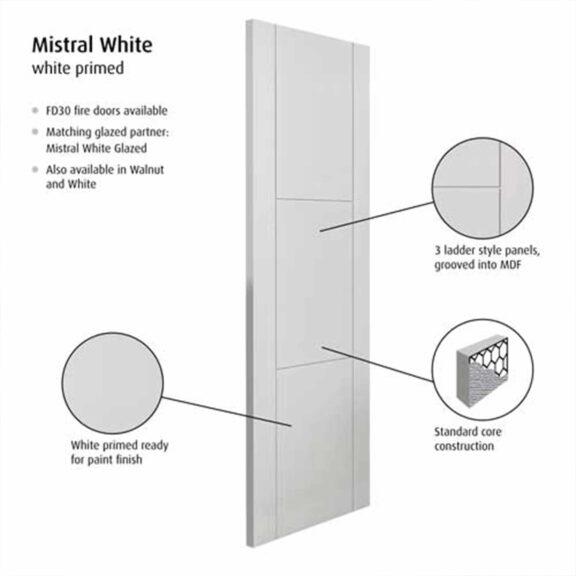 jb kind mistral white internal door
