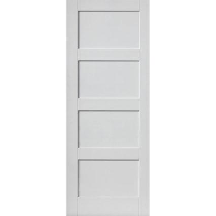 JB Kind Montserrat White Internal Door & Fire Door 🔥 - 1981mm-x-610mm-x-35mm