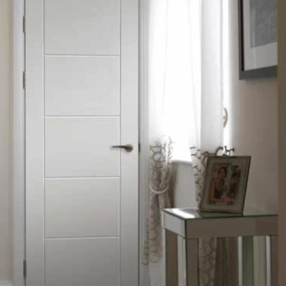 jb kind tigris white panel door