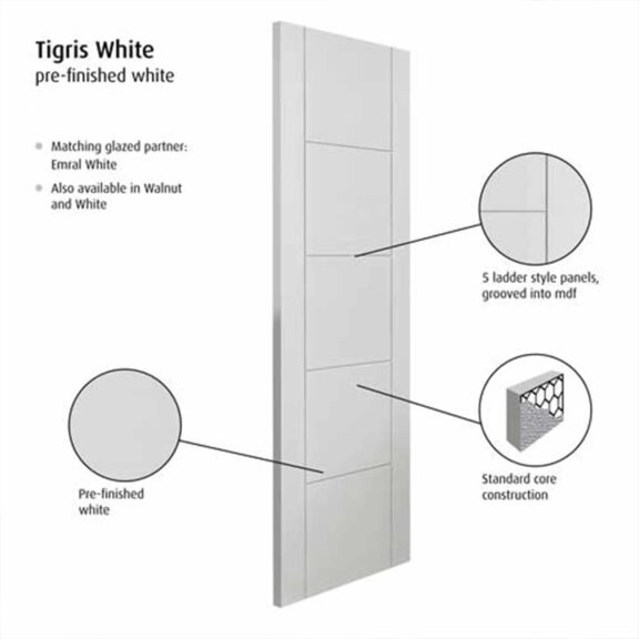 jb kind tigris white internal door