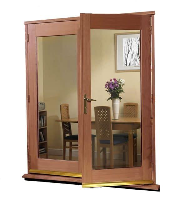 Door external image of external timber cavity sliding for French porte