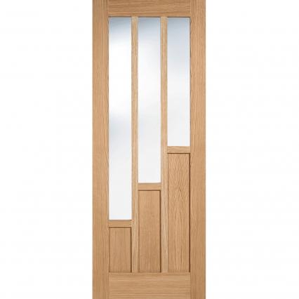 LPD Coventry Oak Glazed Internal Door - 1981mm-x-610mm-x-35mm