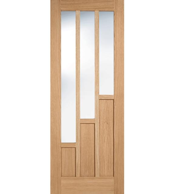LPD Coventry Glazed 3L Oak Internal Door