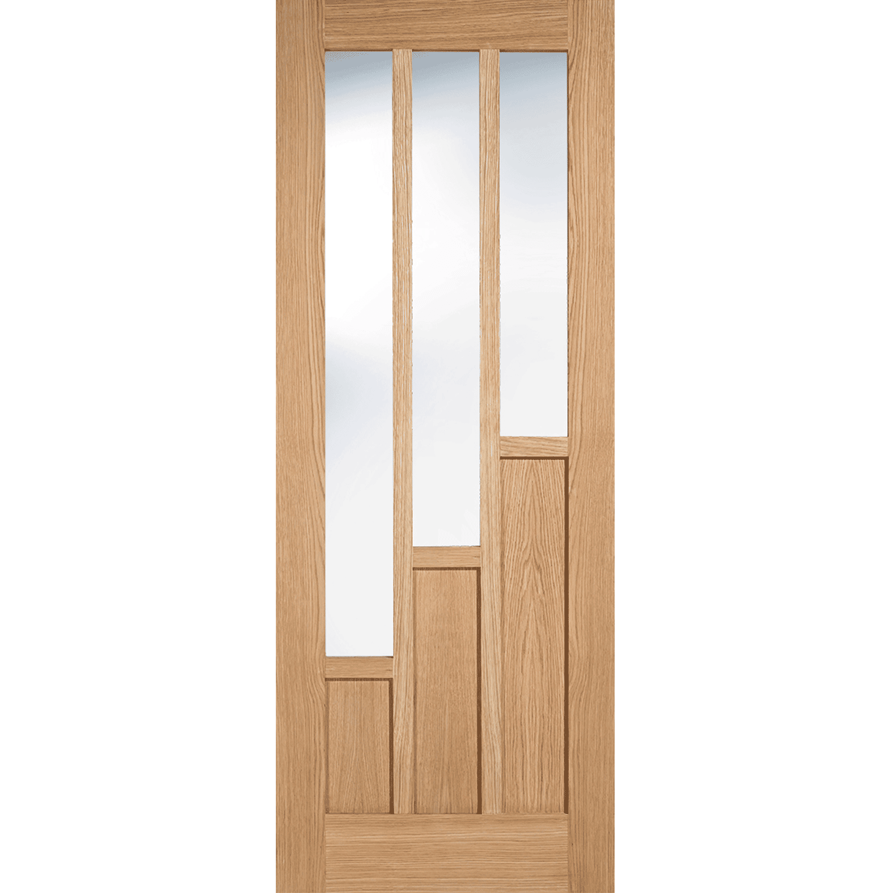 LPD Coventry Glazed 3L Oak Internal Door