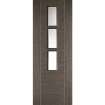 LPD Doors Chocolate Grey Alcaraz Glazed 3L - 1981mm-x-686mm-x-35mm